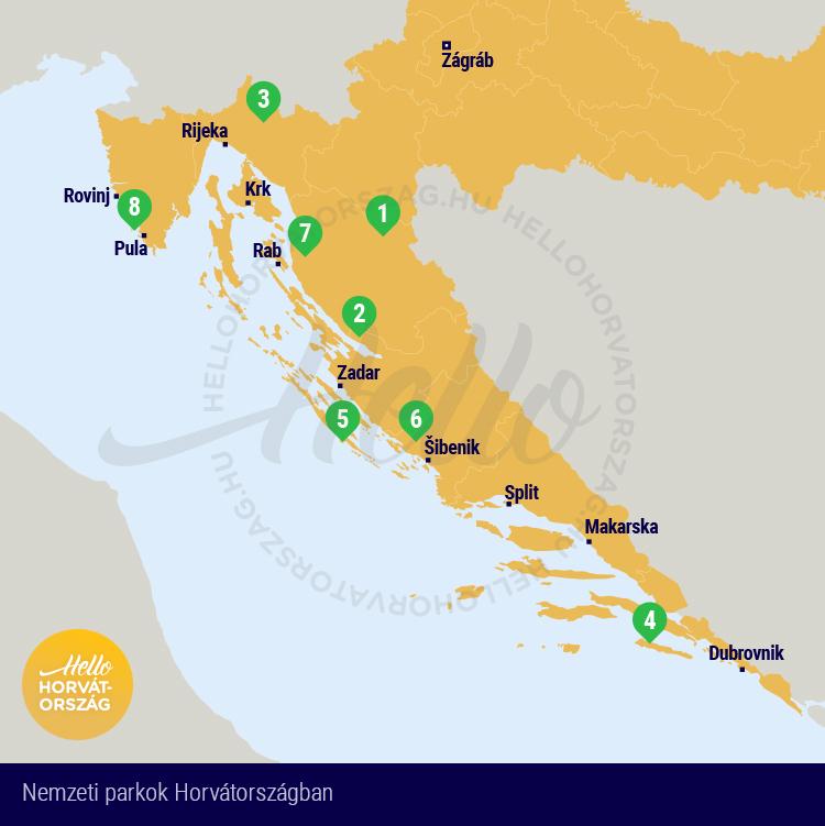 Horvatorszag Nemzeti Park Utikalauz Terkep Es Belepo Arak